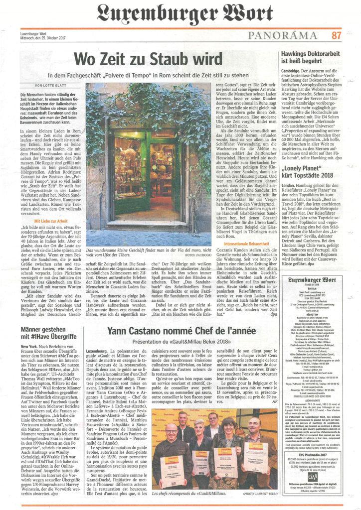 Polvere-di-Tempo-anteprima-articolo-di-stampa-Lussemurger-Wort-25-ottobre-2017