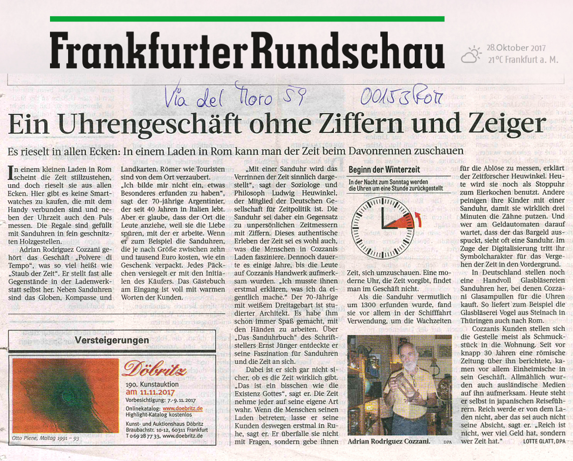 Polvere-di-Tempo-articolo-di-stampa-tedesca-Frankfurter-Rundschau-28-ottobre-2017