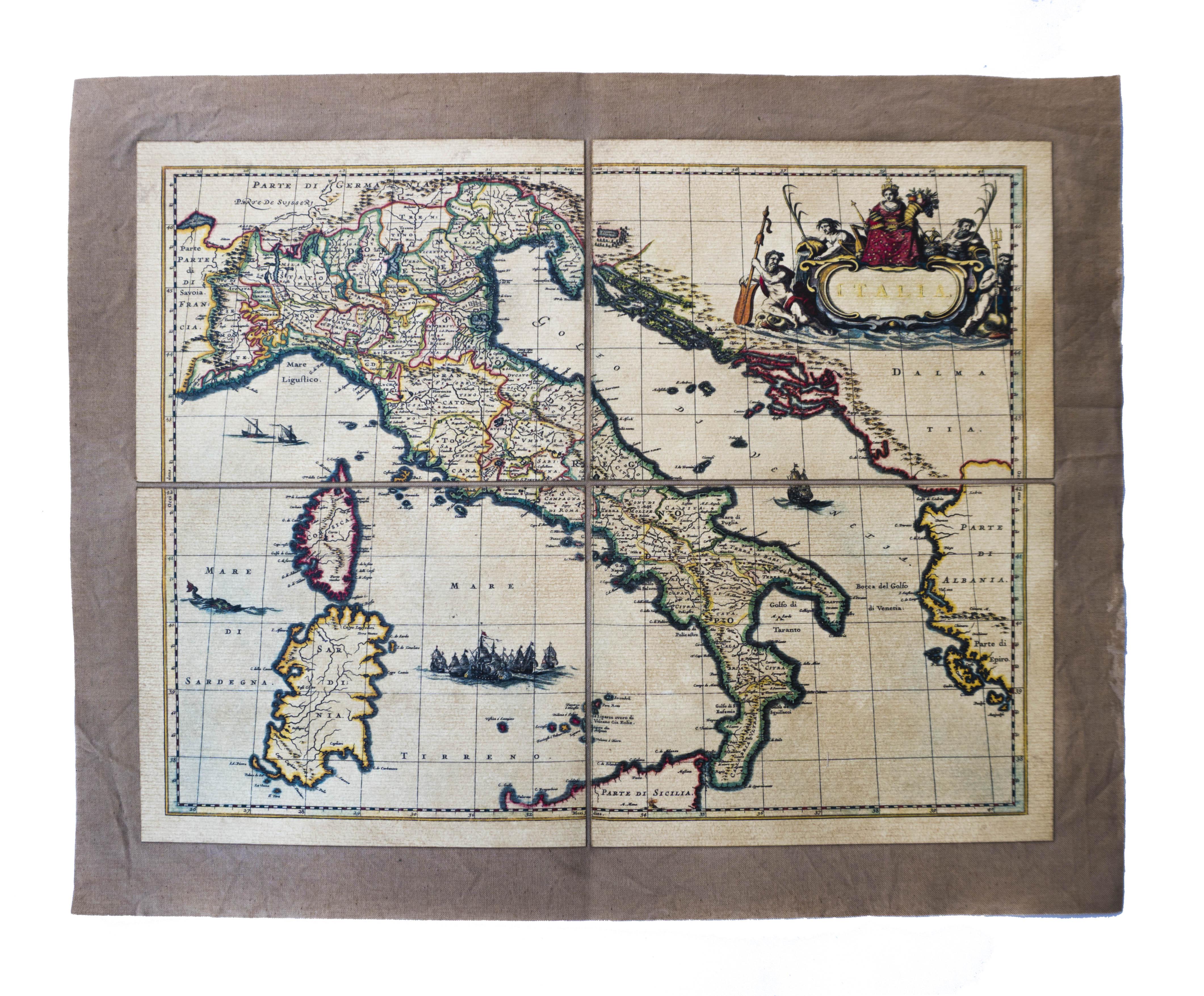 Italia Cartina Antica.Mappa Antica D Italia Polvere Di Tempo Roma