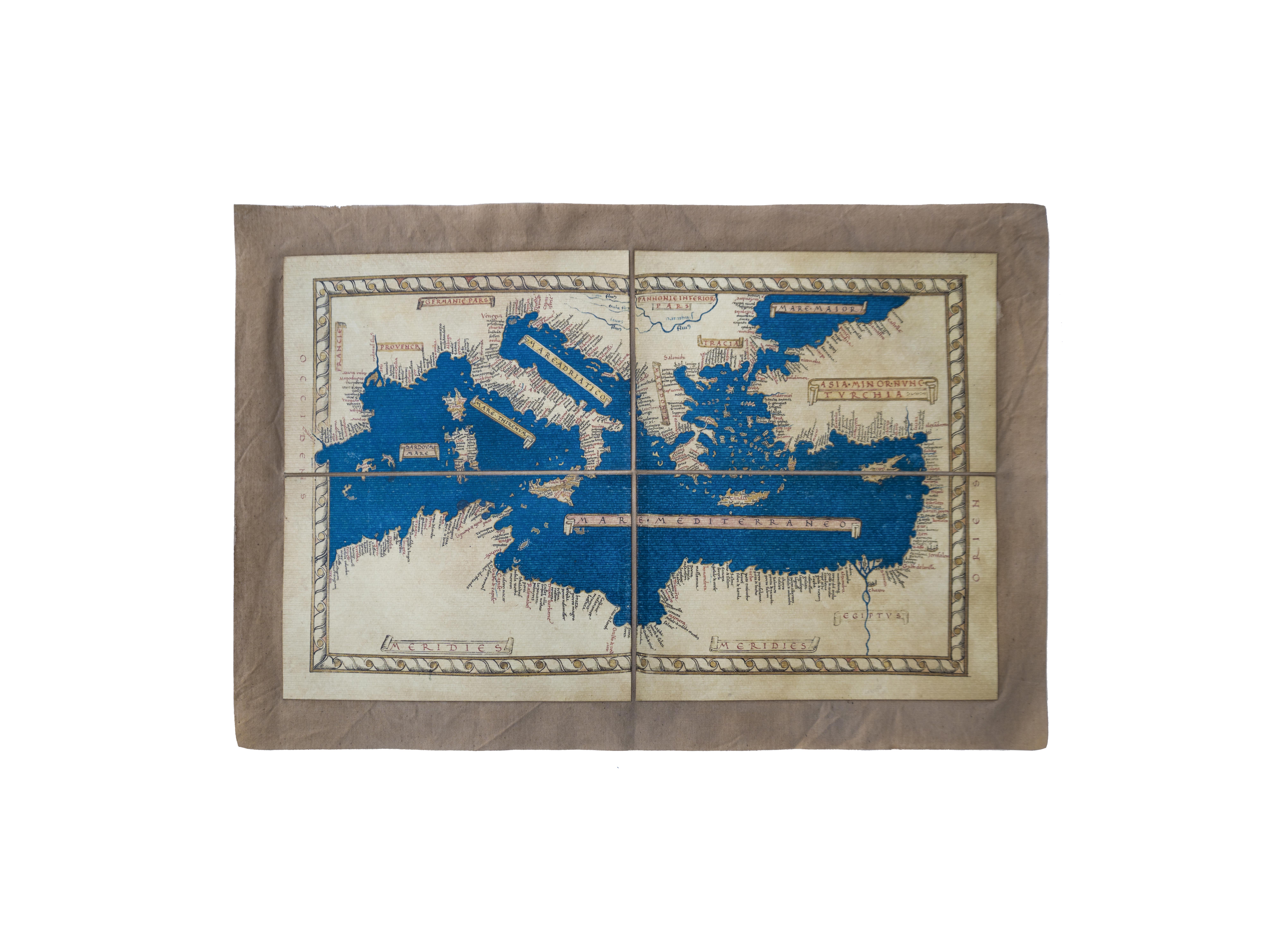 Mediterraneo Cartina.Mappa Antica Del Mediterraneo Polvere Di Tempo Roma